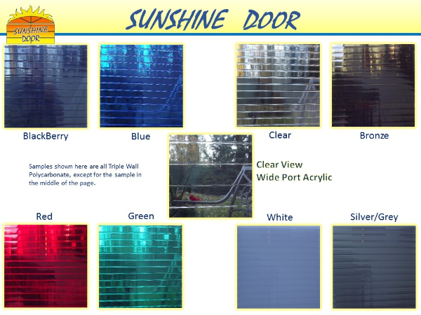 Sunshine Polycarbonate Glazing Colors